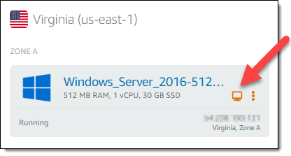 The quickest way to connect to your Windows Server-based Lightsail instance