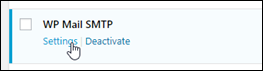 The WP Mail SMTP plugin in the WordPress dashboard.