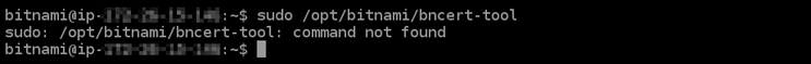 Message confirming the bncert tool is not installed