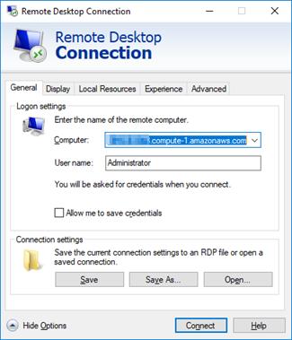 Microsoft Remote Desktop Connection.