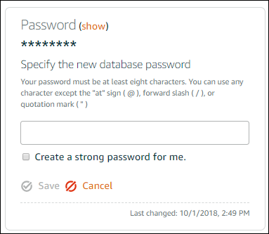 Changing your database password