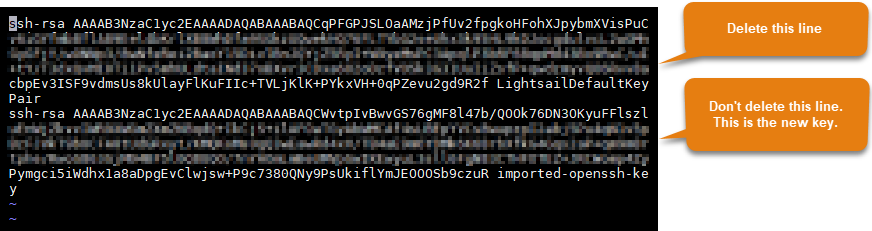 Lightsail default key.