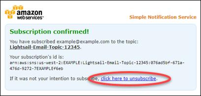 Email verification subscription.