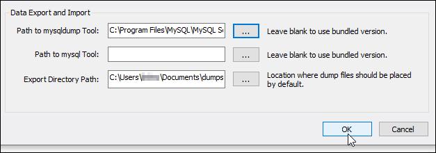 Saving MySQL Workbench preferences