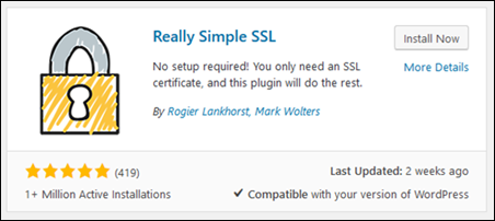 The Really Simple SSL plugin for WordPress.