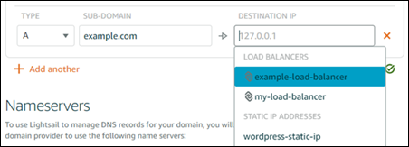 Choose your load balancer and create an alias (A) record