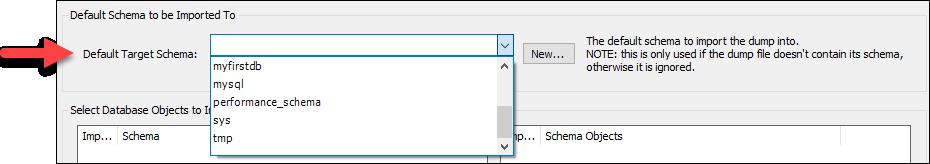 Choosing a default target schema