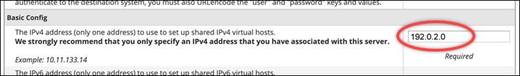 IPv4 address text box