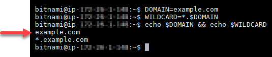 Confirm the the domain environment variables.