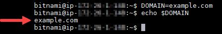 Confirme la variable de entorno del dominio.