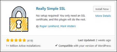 El complemento Really Simple SSL para WordPress.
