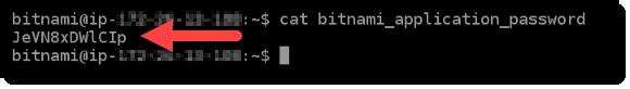 Bitnami アプリケーションのデフォルトパスワード。