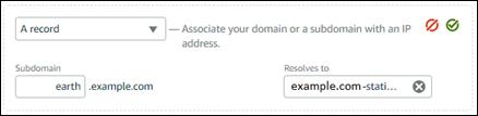Lightsail コンソールの DNS ゾーンにアドレスレコードを追加する。