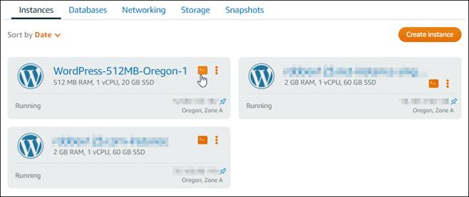 Lightsail で WordPress を起動して設定する。