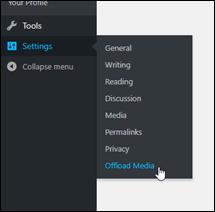 Wordpress ダッシュボードの設定。