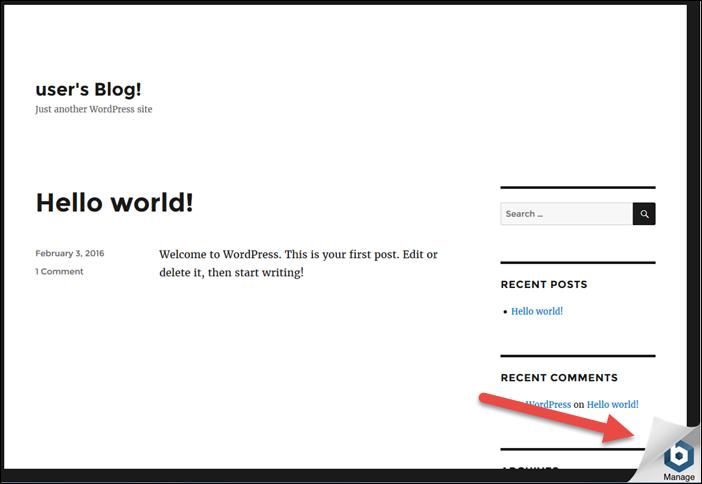 WordPress を使用して作成されたブログ Lightsail